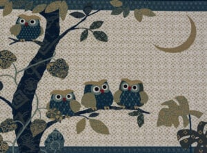 Taupe Owl Family, landscape
